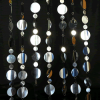 8ft Tall Silver PVC Multi-Circle Curtain