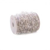 DecoStar™ Iridescent Crystal Beads - Disco Ball - 60ft Roll