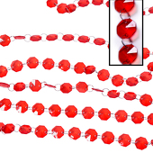 DecoStar™ Red 30ft. Acrylic Crystal Beaded Garland (CUSTOMER FAVORITE!)