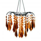 DecoStar™ Acrylic Hand-Hooked Large Amber & Brown Gemstone Chandelier