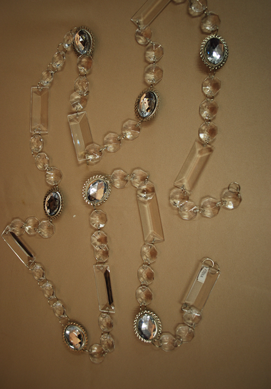 6ft Large Acrylic Strand With Silver Pendant