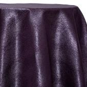 Amethyst - Designer Mardi Gras Linen Broad Tablecloth by Eastern Mills w/ Brushed Metallic Finish - Many Size Options
