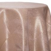 Antique - Designer Mardi Gras Linen Broad Tablecloth by Eastern Mills w/ Brushed Metallic Finish - Many Size Options