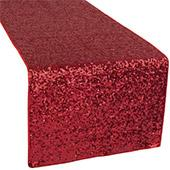 Standard Sequin Table Runner by Eastern Mills - Apple Red
