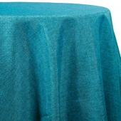 Aqua - Designer Fiesta Linen Broad Tablecloth by Eastern Mills - Many Size Options