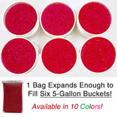 2.2 LBS Bag of Small Aqua Terra Water Beads - Super Expanding Gel Vase Filler - Assorted Colors