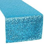 Standard Sequin Table Runner by Eastern Mills - Aqua Blue