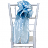 "DecoStar™ 9"" Satin Flower Chair Accent - Baby Blue"