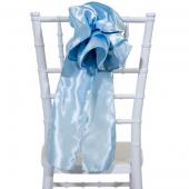 """DecoStar™ 9"""" Satin Flower Chair Accent - Baby Blue"""