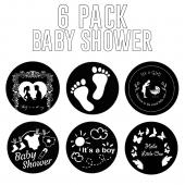 "Baby Shower 6 Pack - 1"" Gobo for Eddy Light Gobo Projector"