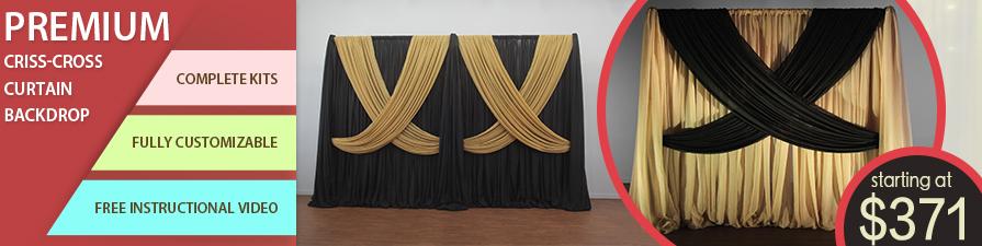 Premium Criss Cross Curtain Backdrop