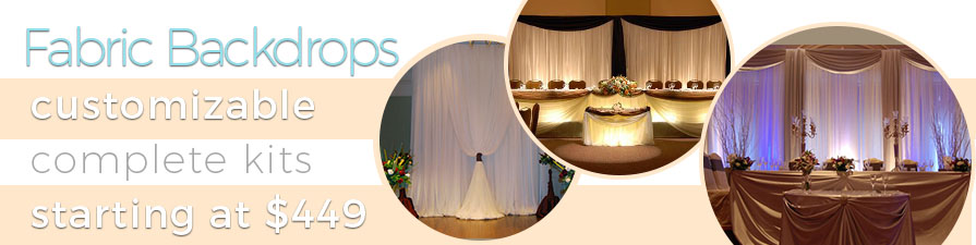 Wedding Backdrops For Sale Fabric Backdrop Event Decor Direct