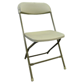 Feather XT™ Plastic Folding Chair - 800 lb Capacity - Beige