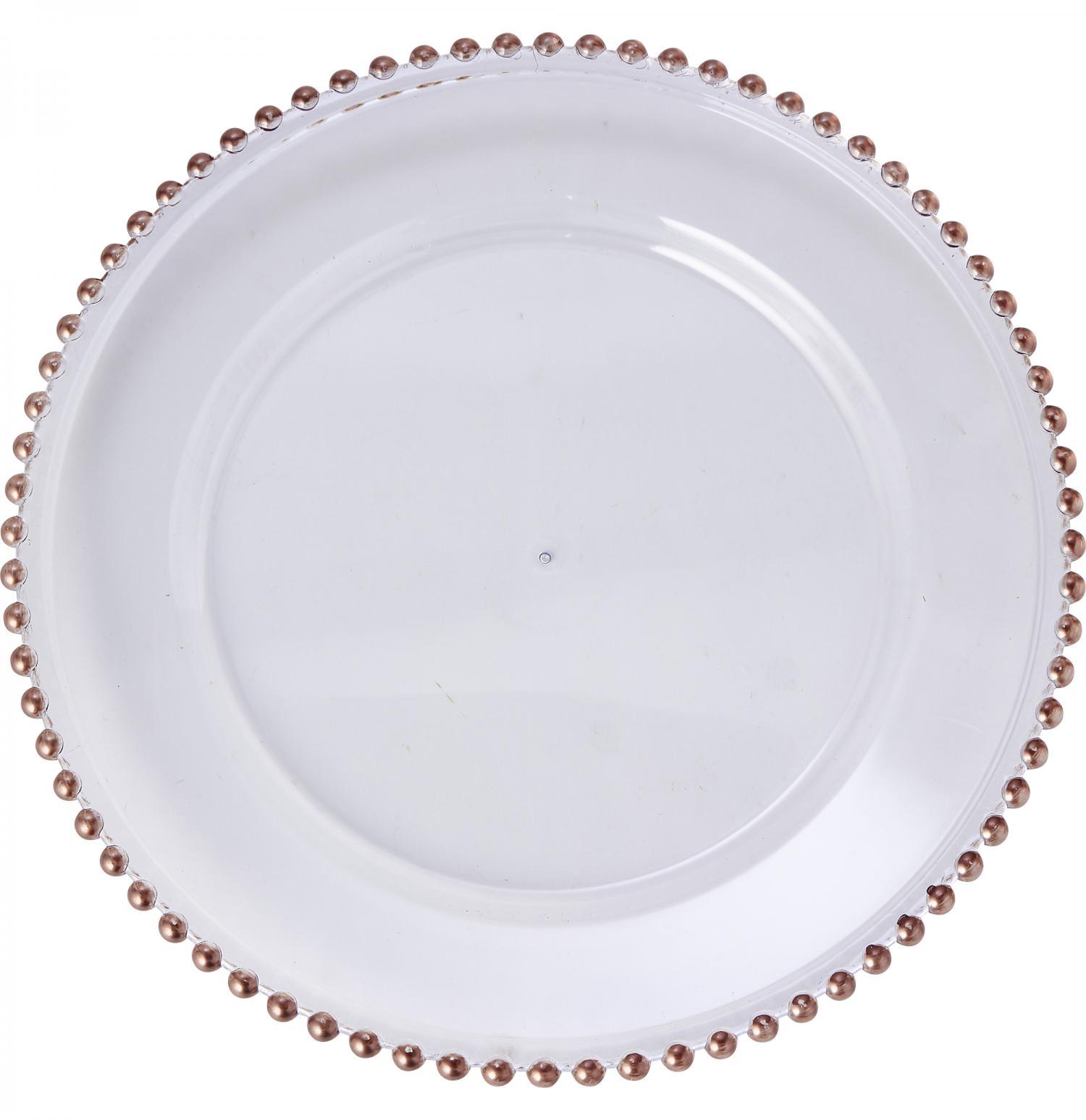 Set of 2 White charger plates wedding plates, rose gold flower rhinestones