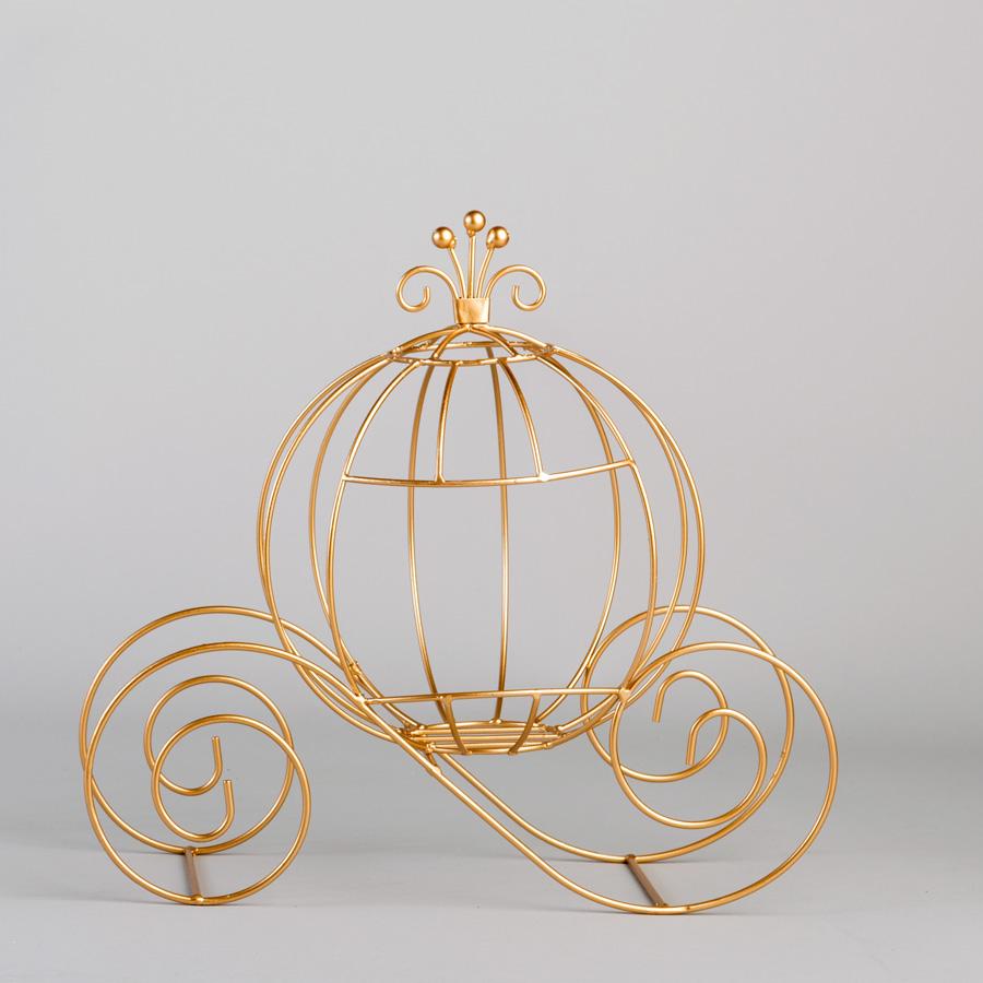 Decostar Metal Pumpkin Carriage 12 Gold