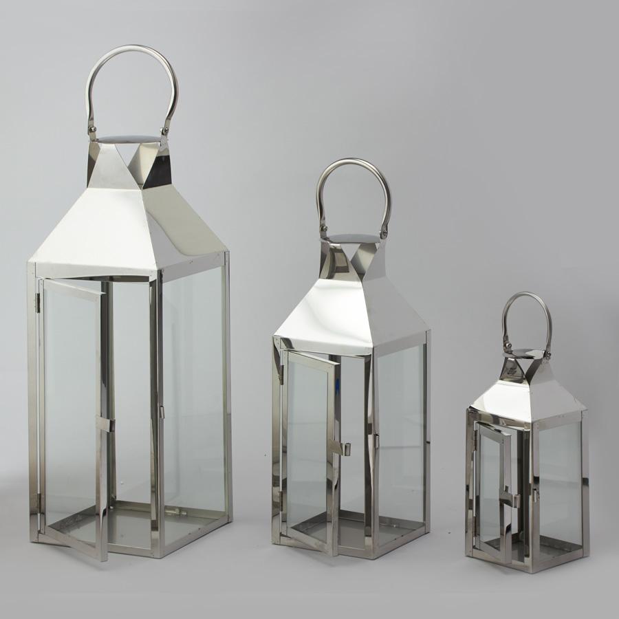 Decostar Metal Lanterns Set Of 3