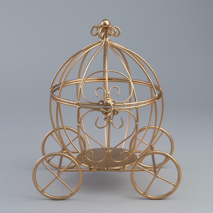Decostar Metal Pumpkin Carriage Gold