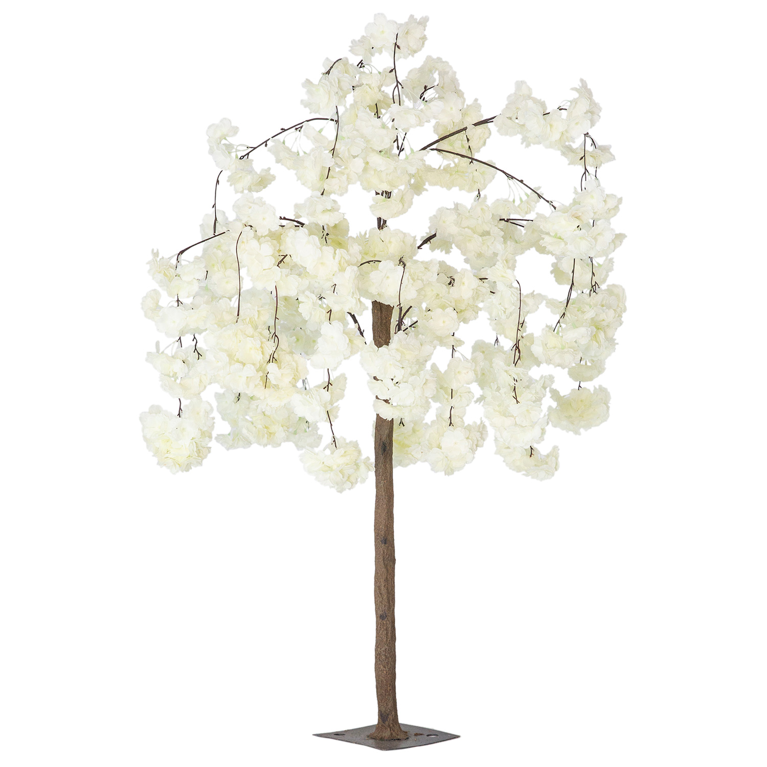 52 4 3ft Tall Fake Wisteria Bloom Tabletop Centerpieces Tree White