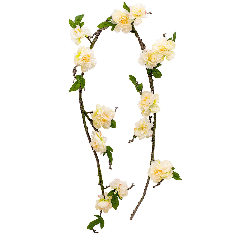 7ft Bendable Floral Peony Vine Choose Your Color