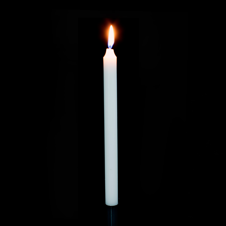 White Taper Candles | 10-Inch White Candles | Event Décor Direct