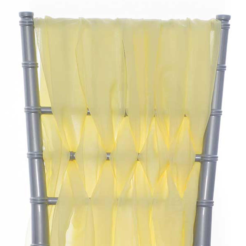 15 Chiavari Chair Accent 5 Piece Sheer Weave Baby Yellow