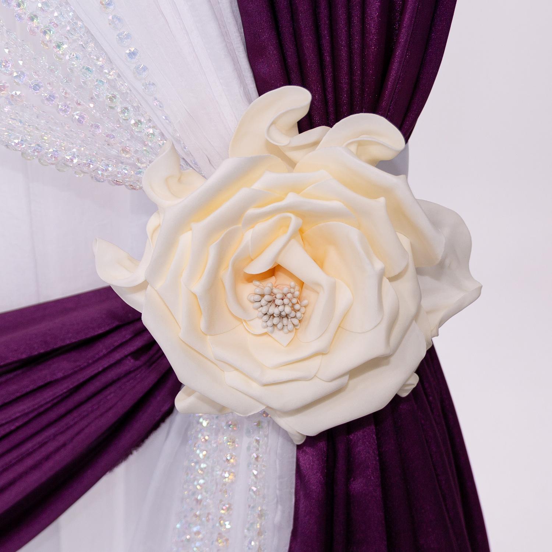 12 Decostar Deluxe Fresh Rose Foam Flower White