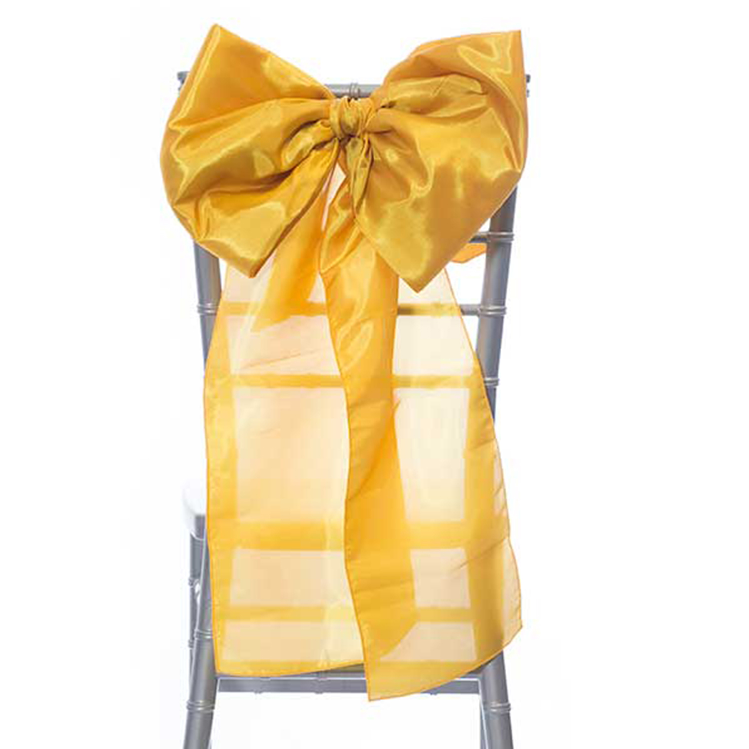 14 Taffeta Bow Chair Accent Gold