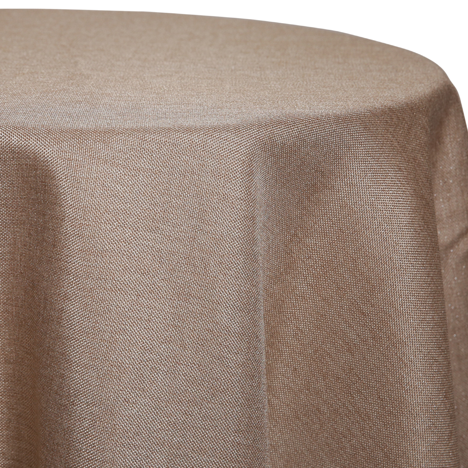 Latte - Designer Glitz Linen Broad Tablecloth by Eastern Mills - Many Size  Options