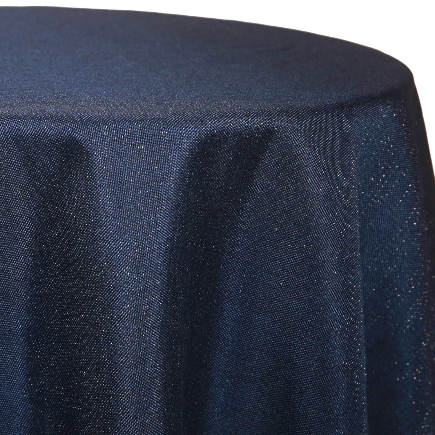 Navy - Designer Glitz Linen Broad Tablecloth by Eastern Mills - Many Size  Options