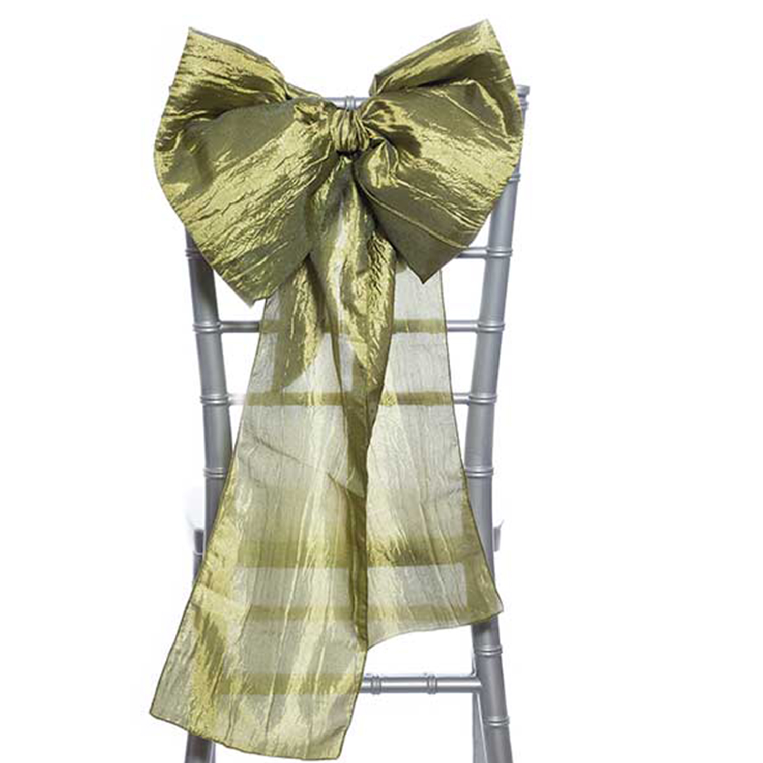 14 Crushed Taffeta Bow Chair Accent Olive