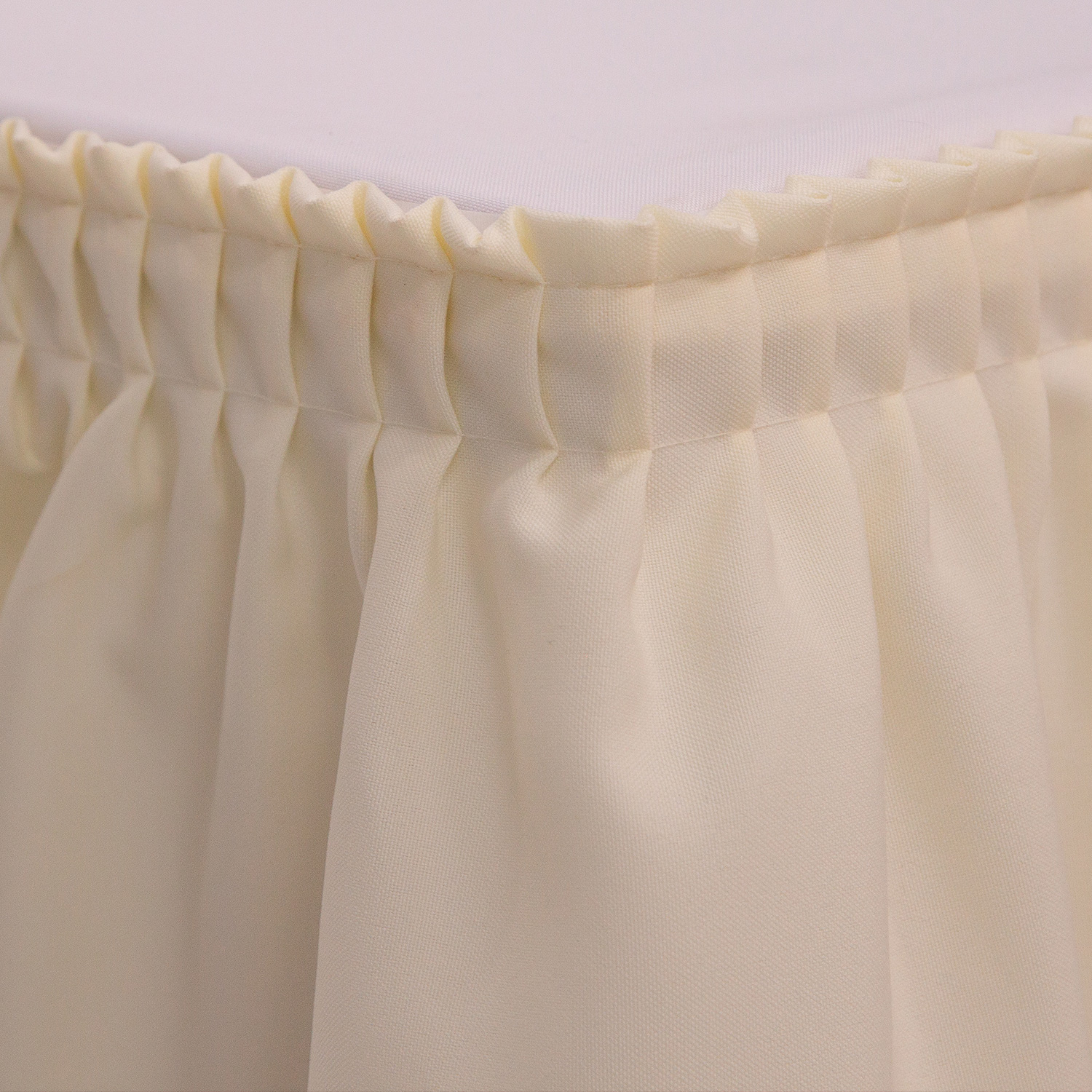 BLACK Table SKIRT Accordion Pleat Polyester Catering Wedding FREE CLIPS 14 17 21
