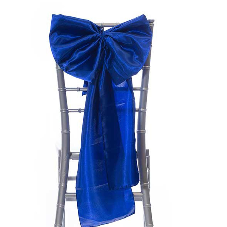 14 Satin Bow Chair Accent Royal Blue