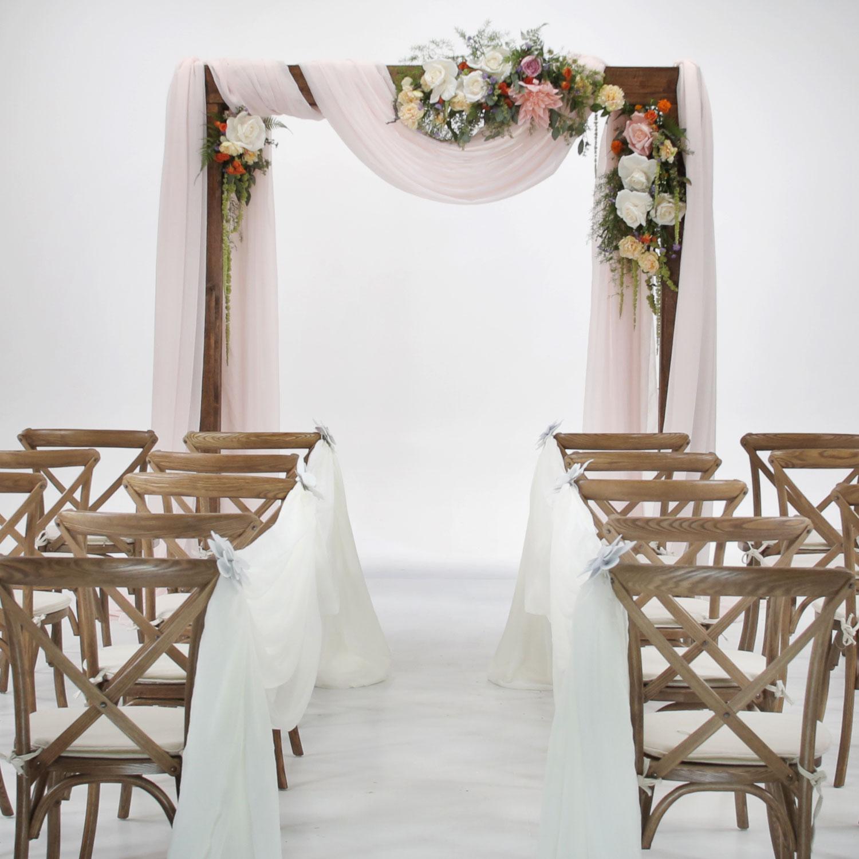 "Wedding Arch Backdrop Drapping 29/""x6.5 Yards Chiffon Fabric Curtain Decor Drapes"
