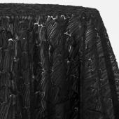 Black - Beautiful Sheer Sequin Overlay by Eastern Mills - Many Size Options