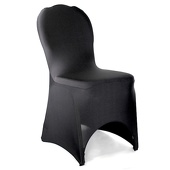 200 GSM Grade A Quality Spandex (Lycra) Banquet & Wedding Chair Cover By Eastern Mills in Black Color