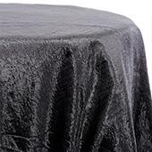 Black - Crushed Tergalet Tablecloth by Eastern Mills - Many Size Options