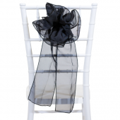 "DecoStar™ 9"" Sheer Flower Chair Accent - Black"