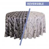 Black/Silver - Marble Designer Tablecloths by Eastern Mills - Many Size Options