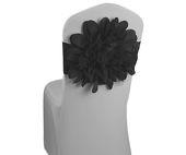 DecoStar™ Black Flower Chair Band   Choose Your Size!