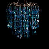 DecoStar™ Blue Teardrop Chandelier
