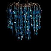 DecoStar™ Blue Teardrop Chandelier