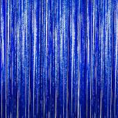 Blue - Cracked Ice Fringe Curtain - Many Size Options