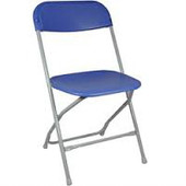 Feather XT™ Plastic Folding Chair - 800 lb Capacity - Blue