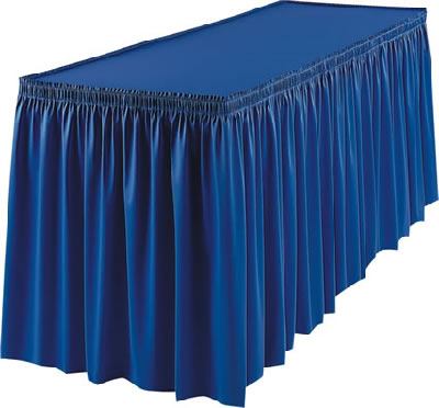 Poly Knit Table Skirt Cloth Table Skirts Event D 233 Cor