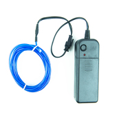 DISCONTINUED ITEM - Battery-Operated Electroluminescent (EL) Wire - 6ft (1.8M) Long - Blue