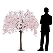 5FT Drooping Hydrangea Bloom Tree - Floor or Centerpiece - Blush/Light Pink