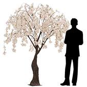 6FT Drooping Cherry Blossom Tree - Floor or Grand Centerpiece - 10 Interchangeable Branches - Blush/Light Pink