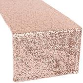 Standard Sequin Table Runner by Eastern Mills - Blush/Rose Gold