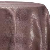 Bronze - Designer Mardi Gras Linen Broad Tablecloth by Eastern Mills w/ Brushed Metallic Finish - Many Size Options