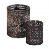 DecoStar™ 2 Piece Set! Bronze Encased Glass Votive